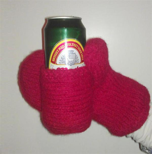 棒针啤酒饮料手套