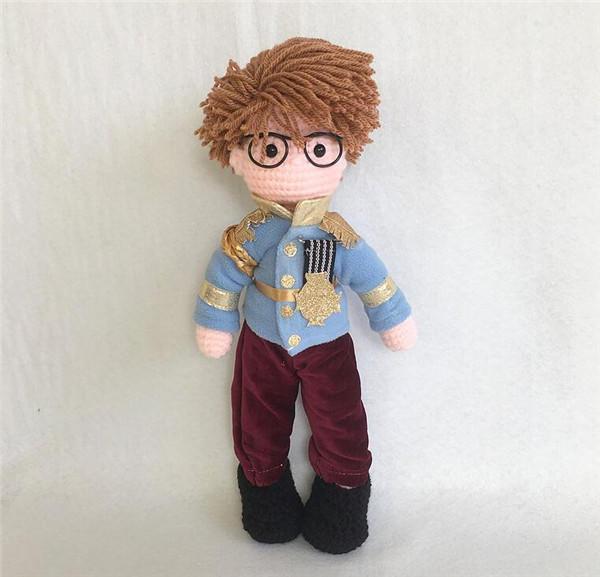钩针编织男生娃娃