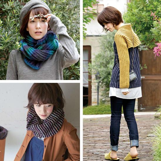 时尚手编毛线围巾