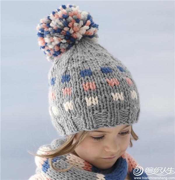 粗针织毛线帽