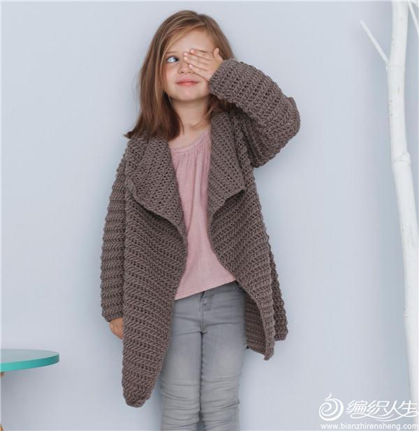 女童钩针大衣开衫