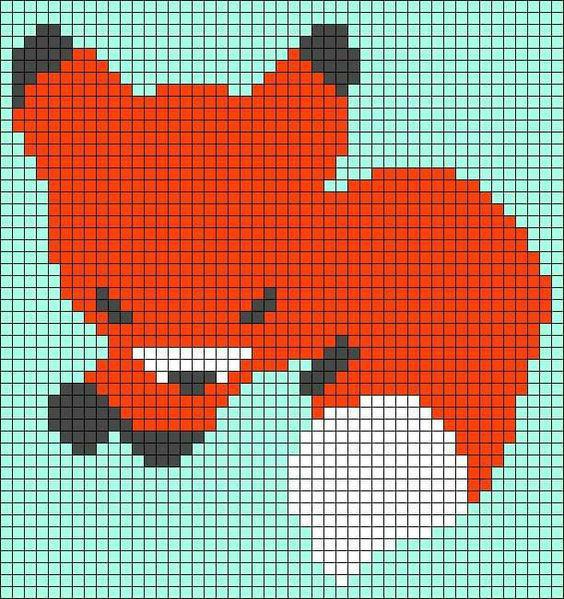 生动可爱手工编织毛衣狐狸主题图案大全
