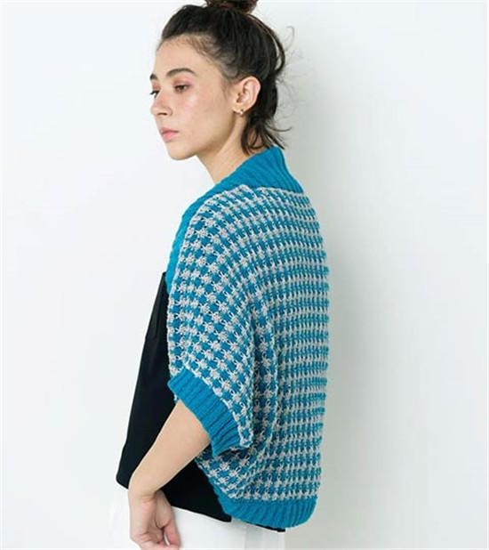 手工编织披肩式开衫