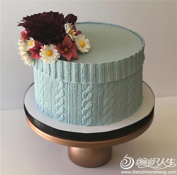 创意毛线针织蛋糕