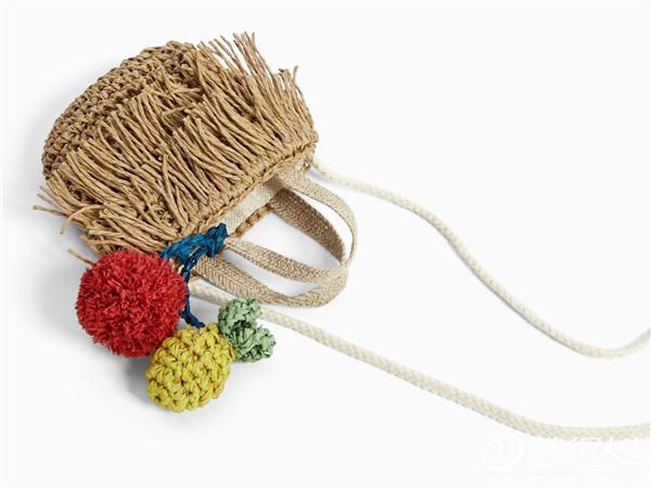 儿童钩针棉草包