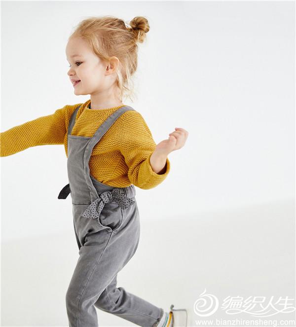 大牌风搓板针儿童棒针毛衣