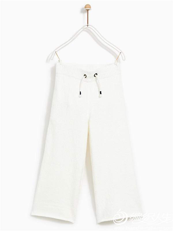棒针编织阔腿裤