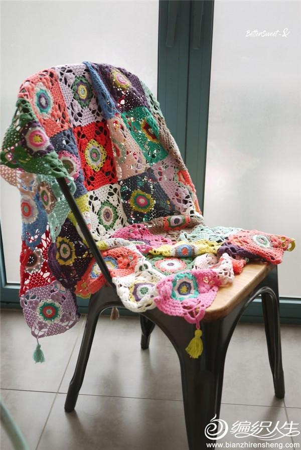 流苏钩针毯子