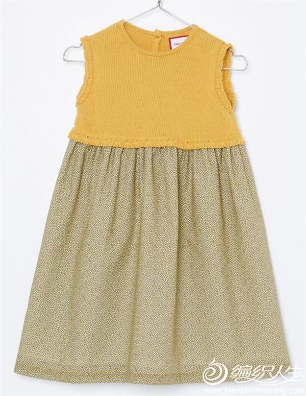 织布结合儿童背心裙