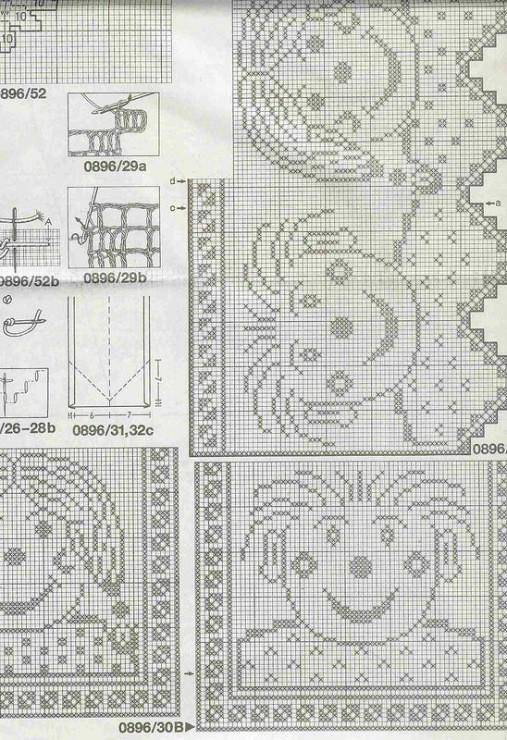 经典方格也可以萌萌的 可爱钩针卡通图案方格编花样图案图解 - 壹一 - 壹一编织博客