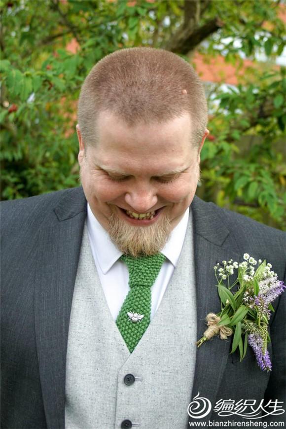 桂花针棒针领带