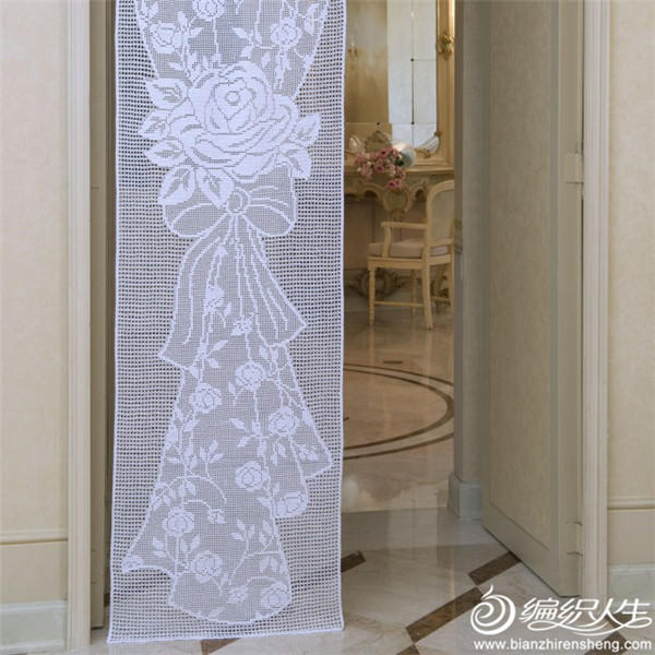 钩针蕾丝窗帘