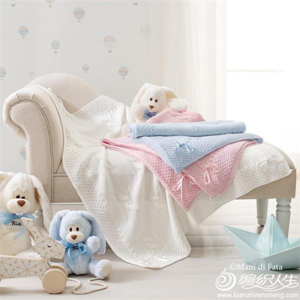 棒针编织婴儿毯