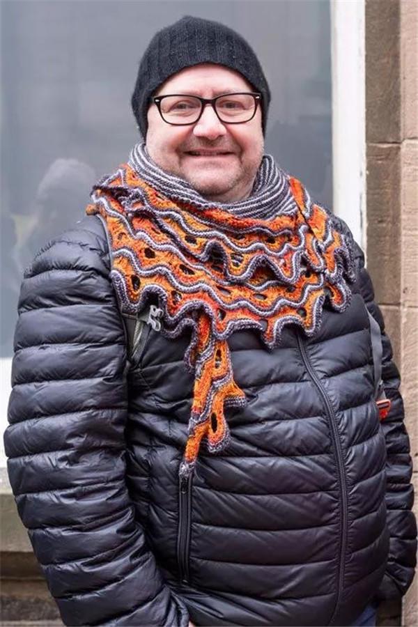 创意毛线编织围巾