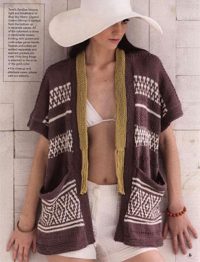 欧美女士毛衣编织图解