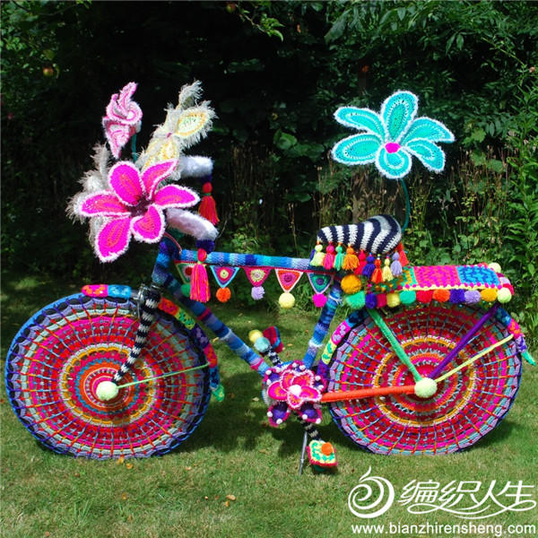 自行车毛线装饰