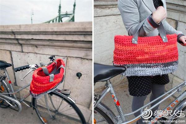 钩针自行车包包