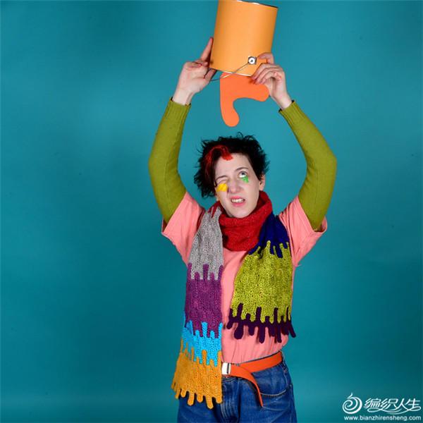 趣味编织毛线围巾