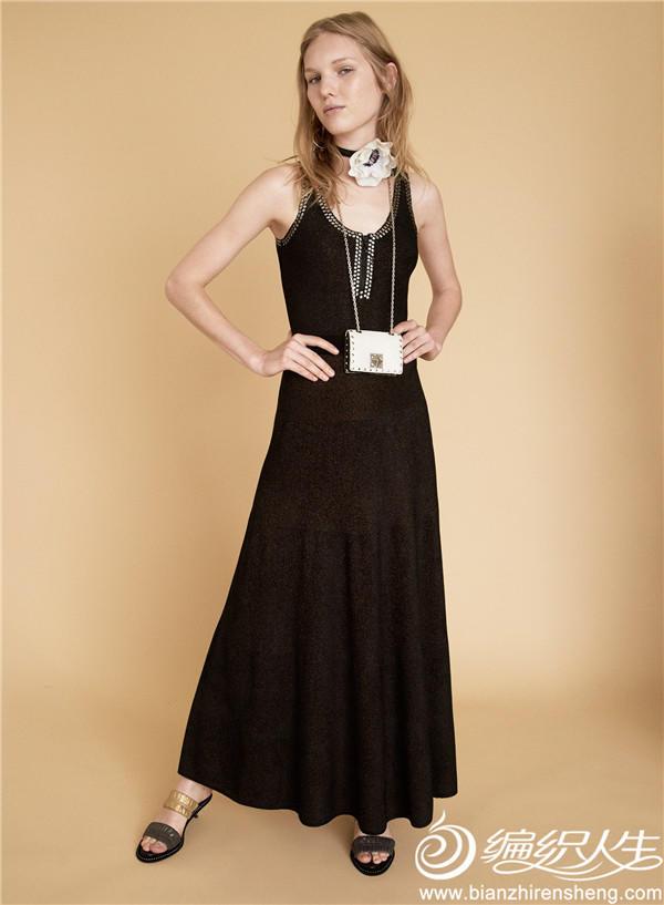 女士针织背心长裙