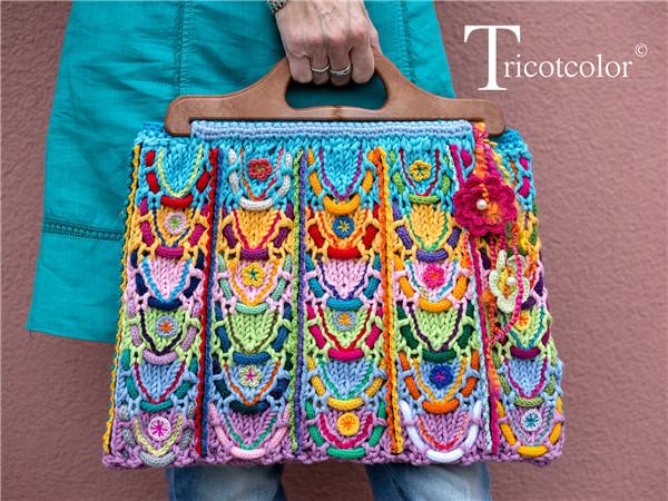 棒针编织手提包
