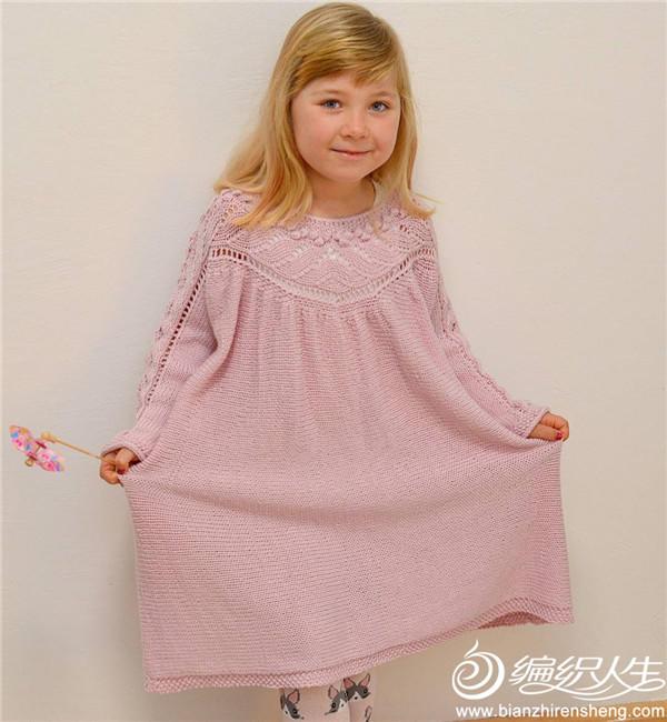 横织儿童连衣裙