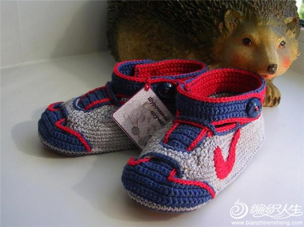 创意钩针宝宝运动鞋