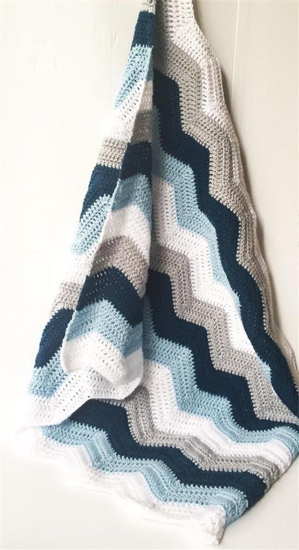手工编织毛线毯