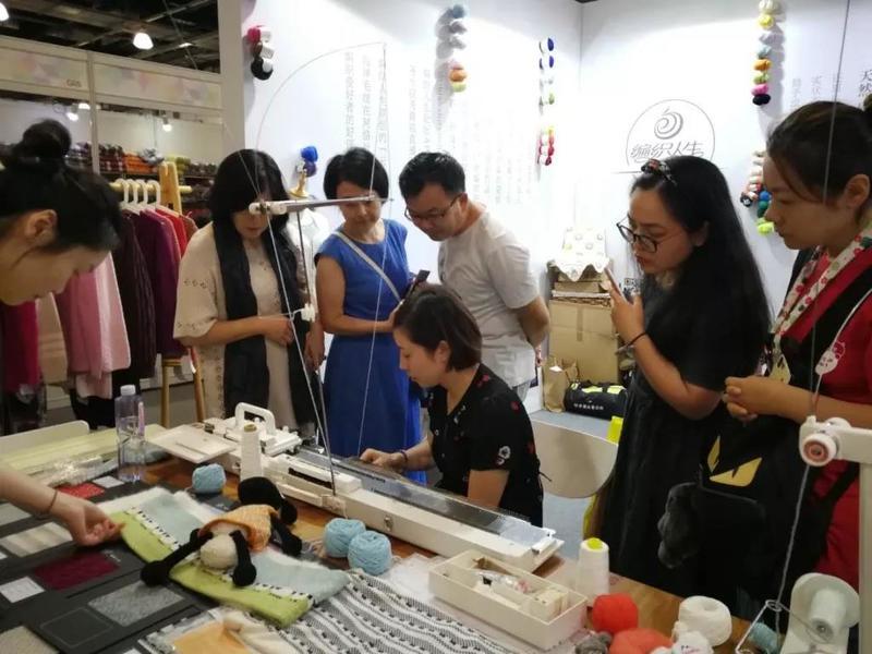 家用编织机体验活动