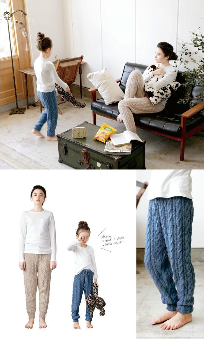 毛线编织亲子裤