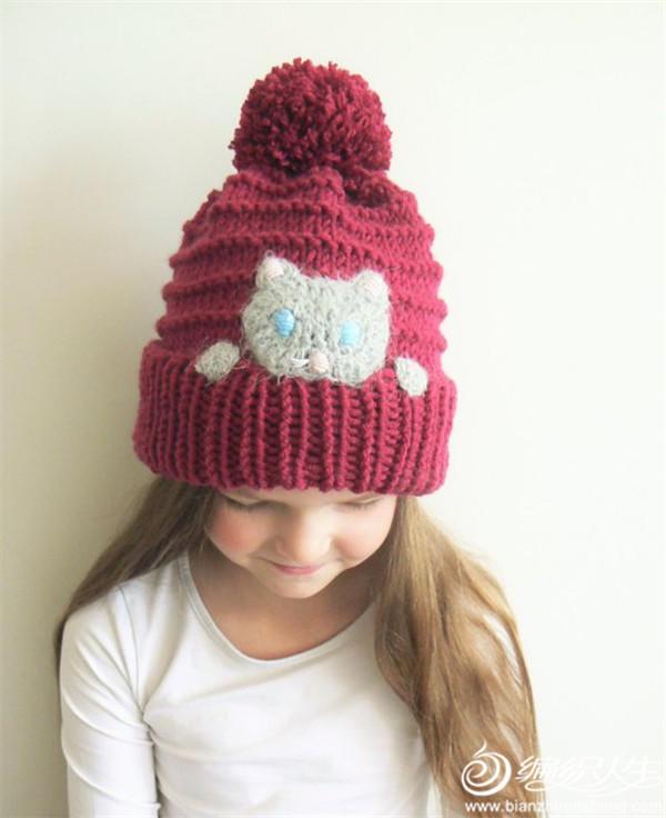 儿童棒针帽子