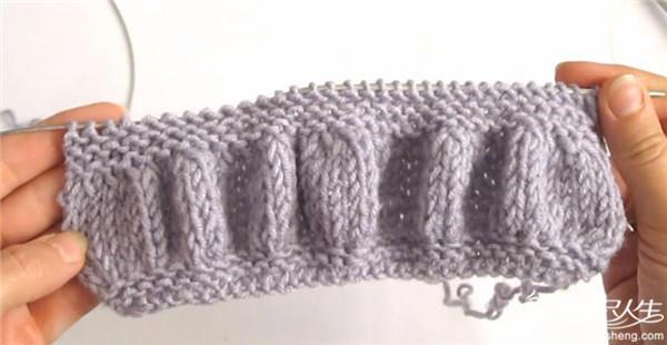 简单好织的别致棒针花样(零基础织围巾,有基础