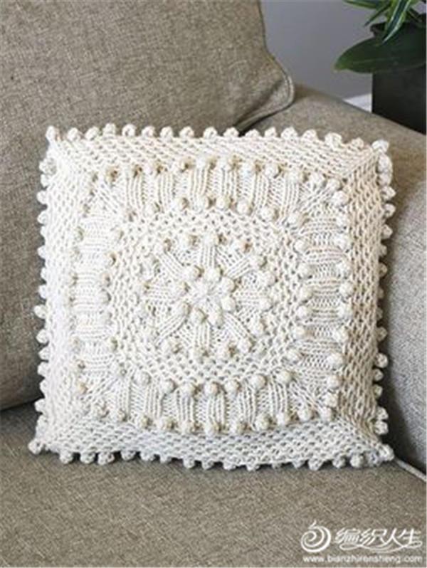 毛线编织抱枕