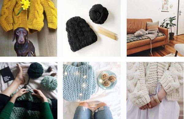 粗针织毛衣