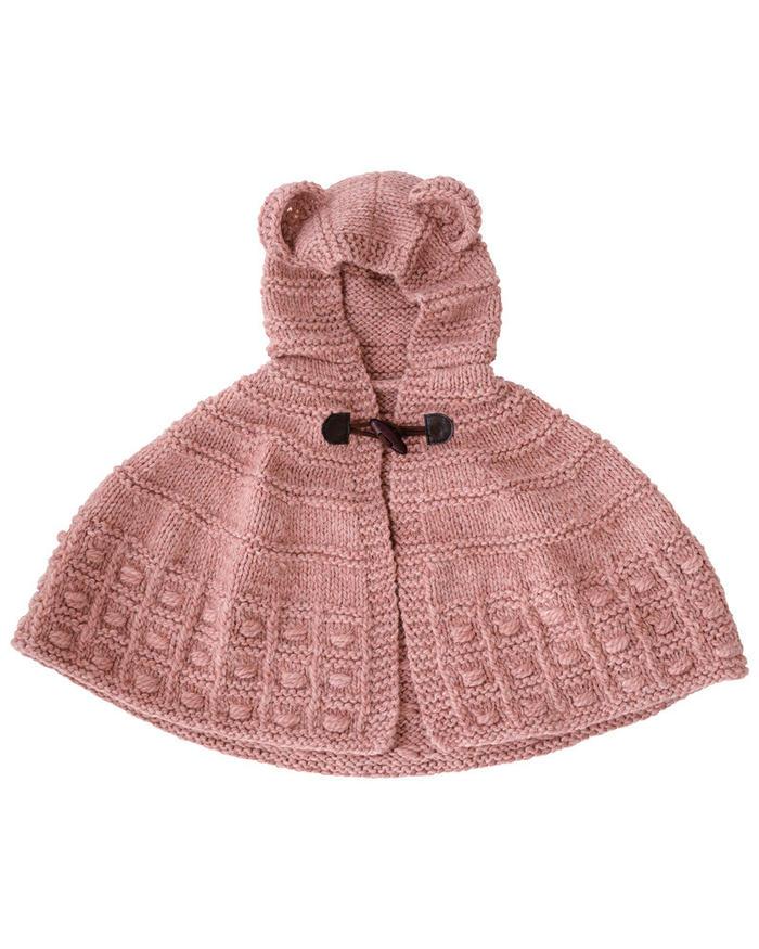 粗针织羊毛披肩