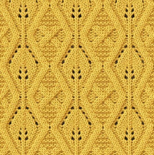 波浪镂空编织图解平针