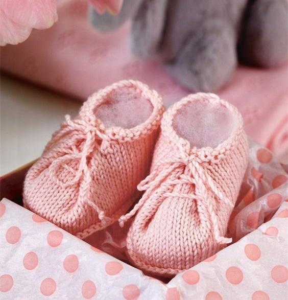 棒针婴儿鞋