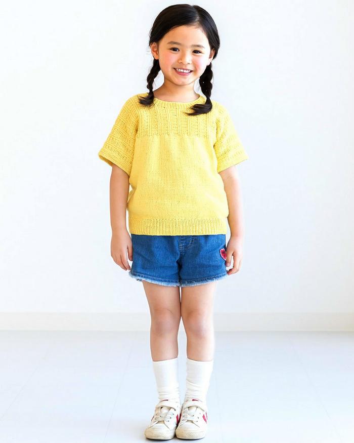 儿童棒针短袖