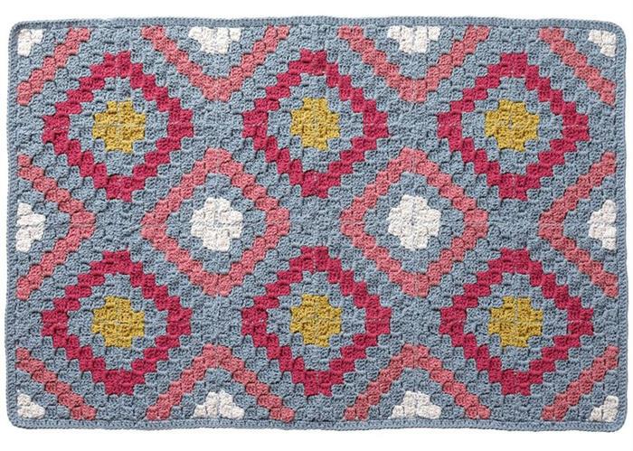 对角线钩针地毯