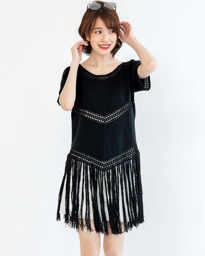 手工編織女士毛衣