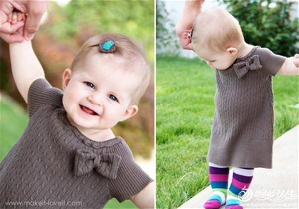 妈妈毛衣改宝宝裙