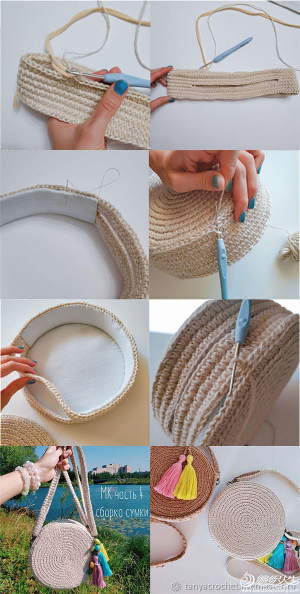 圆形包包制作方法