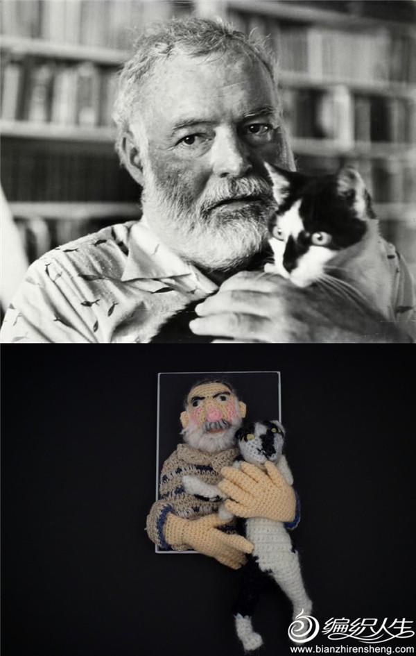 钩针海明威与猫