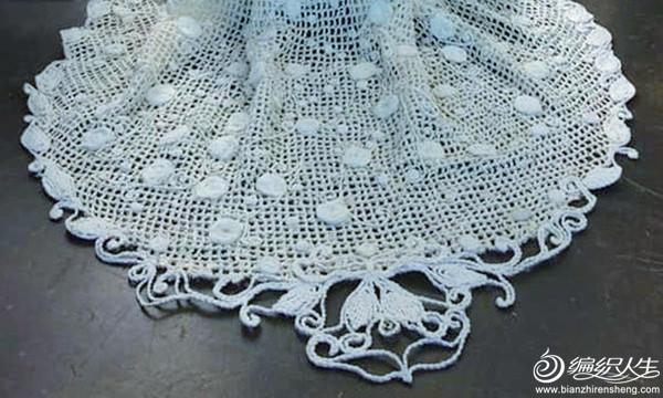 钩针蕾丝婚纱