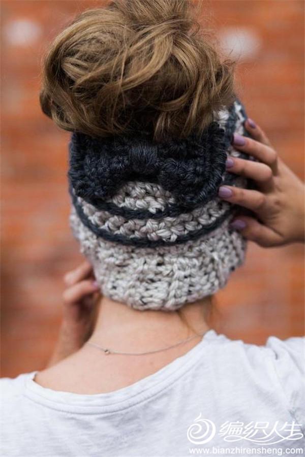 蝴蝶结毛线帽