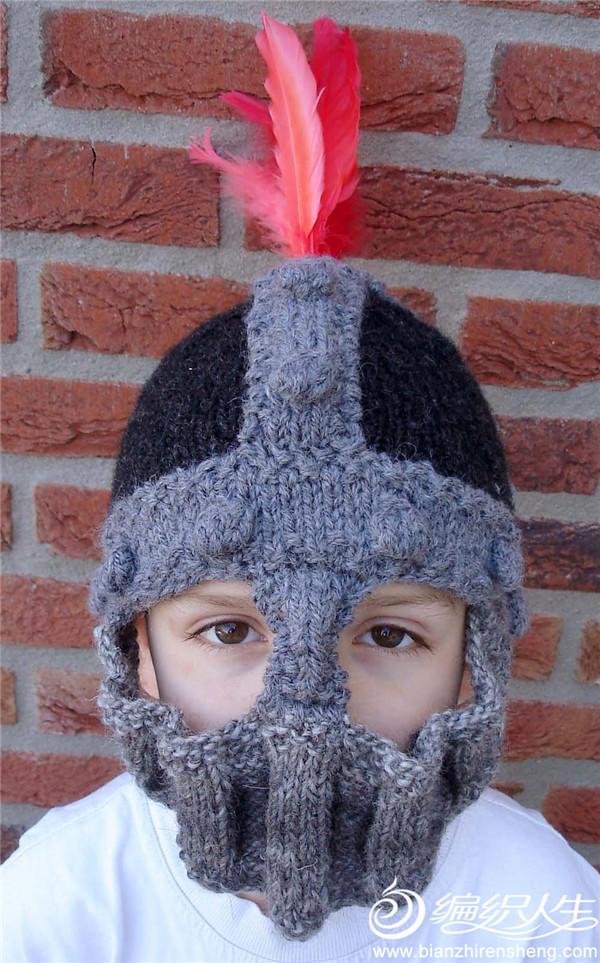 棒针编织士兵帽