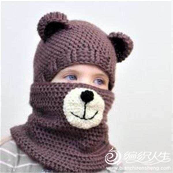 钩针小熊宝话宝帽