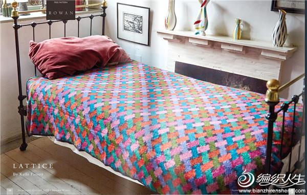 多种颜色提花毯《交错》