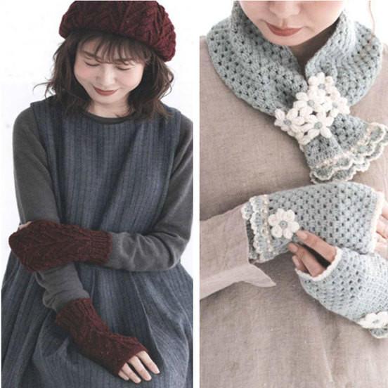 手工編織圍巾帽子手套
