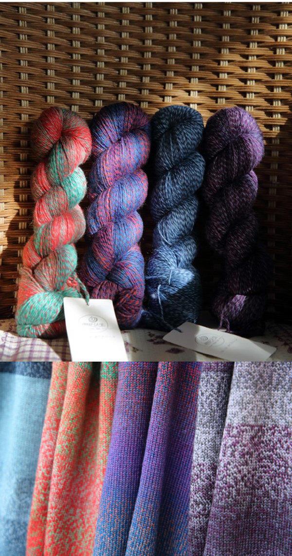 編織人生混色長段染羊毛線