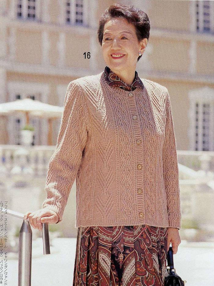 我長大了織一款毛衣送給她 中老年編織服飾6款(開衫馬甲披肩帽子)